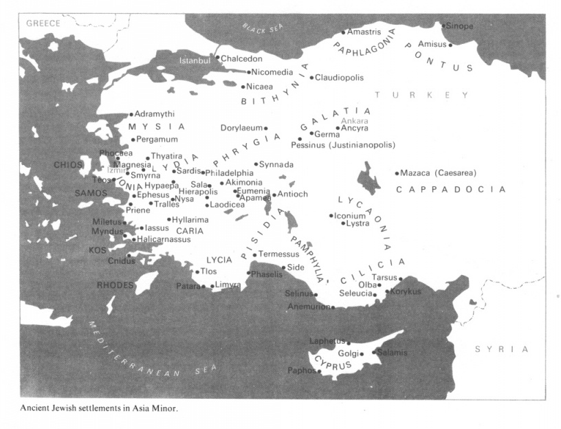 Bible Map Of Asia Minor.Map Of Asia Minor In Bible Times