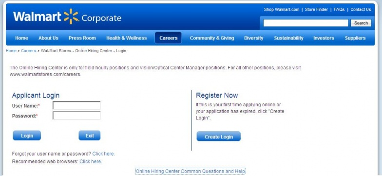 walmart job application online pdf